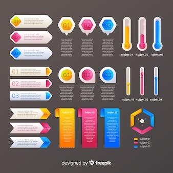 Инфографическая коллекция элементов