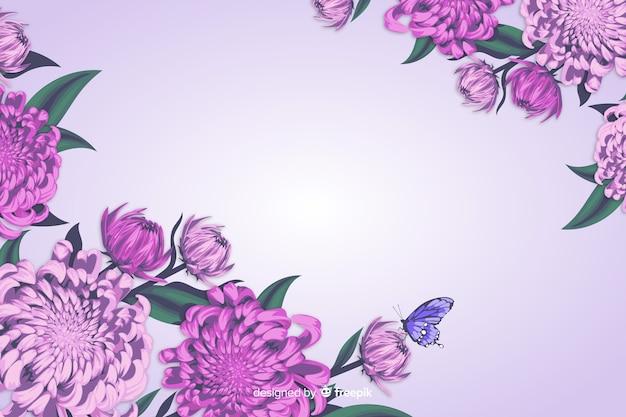 Реалистичный стиль цветочный декоративный фон