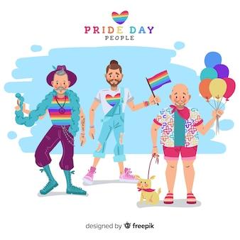 プライドデーを祝う人々