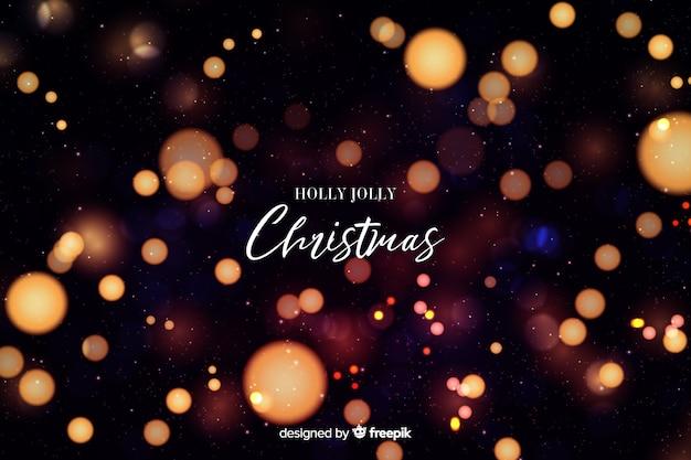 Холли джолли рождество боке фон