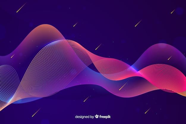 グラデーションインフォグラフィックカラフルな波