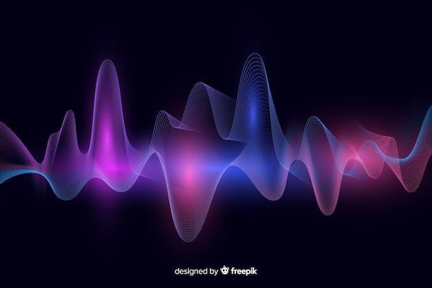 抽象的なイコライザー波背景