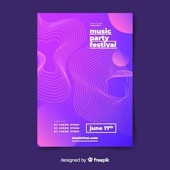 抽象音楽ポスターテンプレート