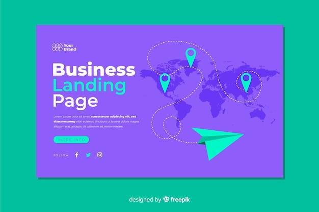 Бизнес целевая страница