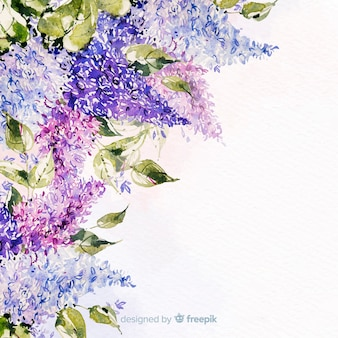 水彩の美しい花のカラフルな背景