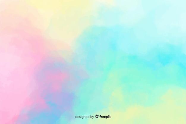 パステルカラーの水彩画の汚れの背景