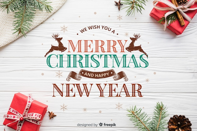 クリスマス&新年の背景