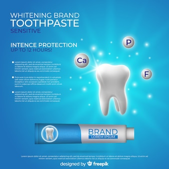 リアルな歯磨き粉のポスター広告
