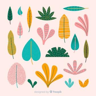 手描きの葉コレクション