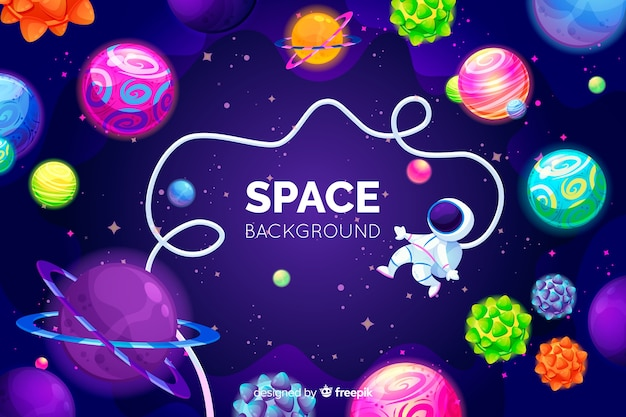 手描きのカラフルな空間の背景