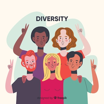 Люди из разных культур и рас