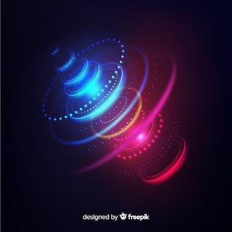 ネオンライト未来的なホログラムの背景