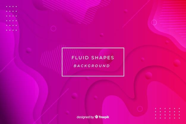 Красочный фон формы жидкости