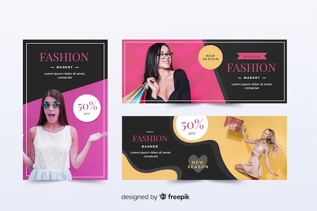 写真付きファッション販売バナーコレクション
