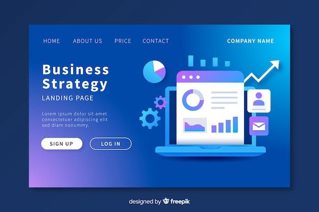 事業戦略のランディングページのテンプレート