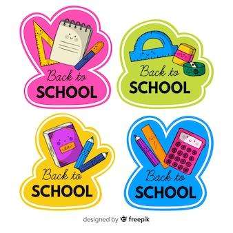 Ручной обращается обратно в коллекцию школьных значков