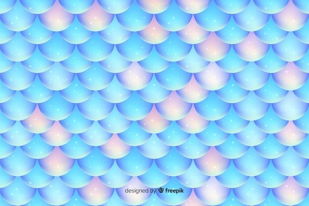 光沢のあるホログラフィック人魚の尾の背景