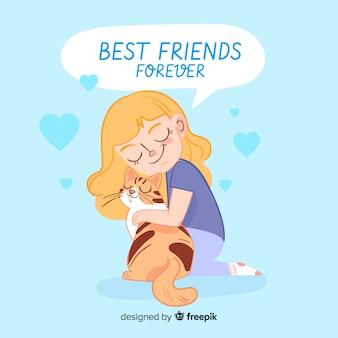 Плоский дизайн фона день дружбы