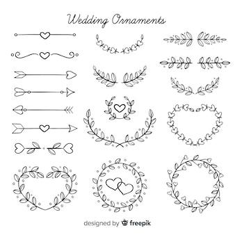 Ручной обращается цветочные свадебные украшения пакет