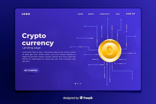 暗号通貨コンセプトランディングページテンプレート