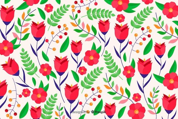 Красивый красочный декоративный цветочный фон