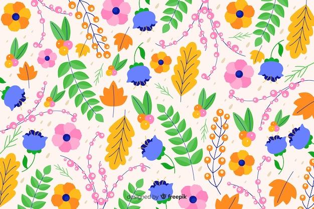 美しいカラフルな装飾的な花の背景