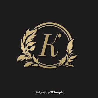 Золотой элегантный логотип с рамкой