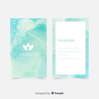 Акварель абстрактный шаблон визитной карточки