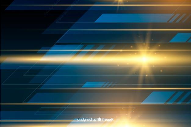 リアルな輝く光の動きの背景