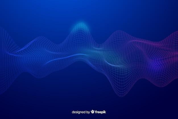 Светящийся фон фрактальной сетки волны