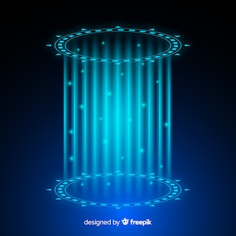 ホログラフィックポータルと抽象的な背景