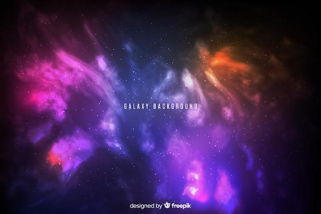 抽象的なグラデーション明るい銀河の背景