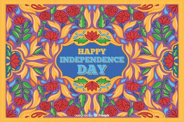 カラフルなインドの独立記念日の背景