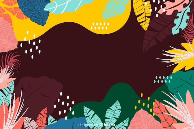 抽象的な手描きの熱帯の背景