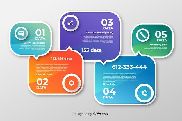 Инфографика шаги коллекции плоский дизайн