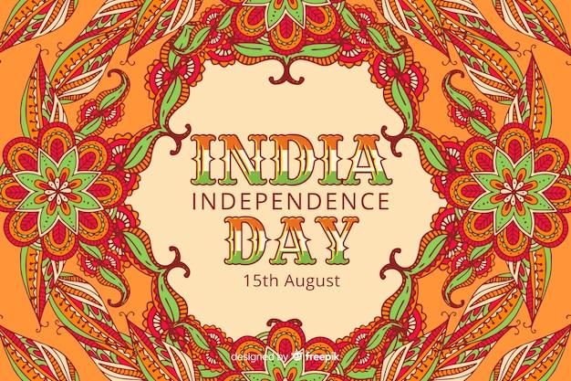 装飾的なインドの独立記念日の背景