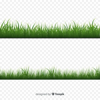 Зеленая трава границы реалистичный дизайн