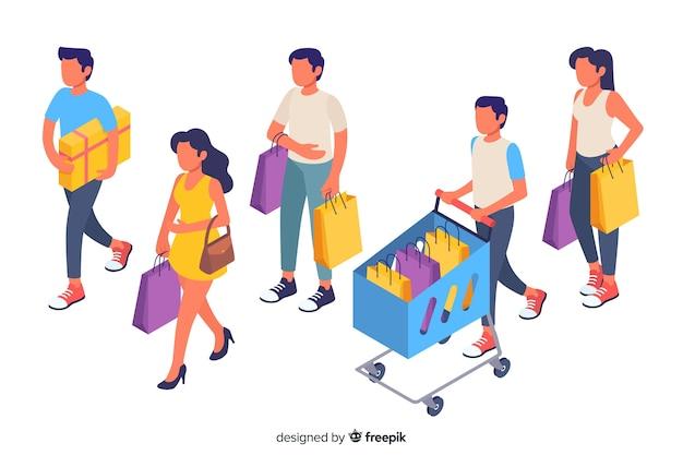 Люди, несущие коллекцию сумок