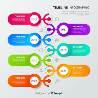 ビジネスタイムラインインフォグラフィックテンプレート