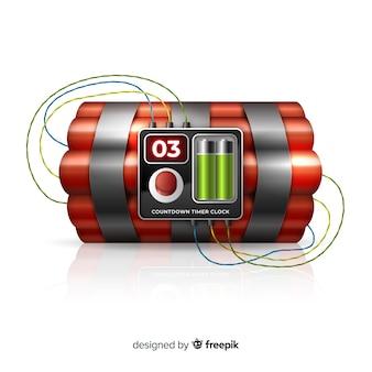赤い時限爆弾の現実的なデザイン