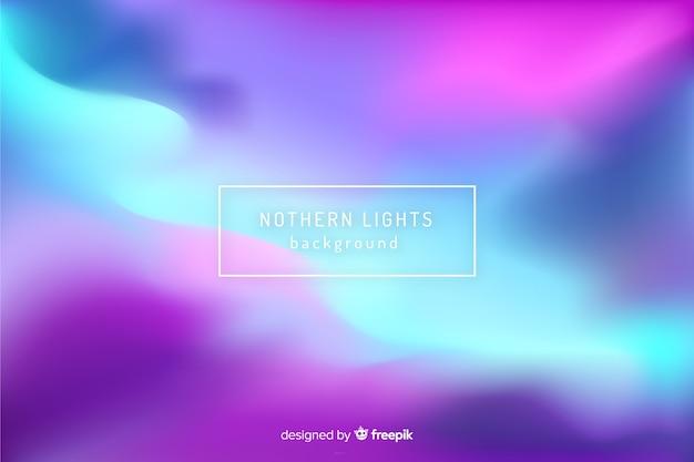 Абстрактный размытый фон северное сияние