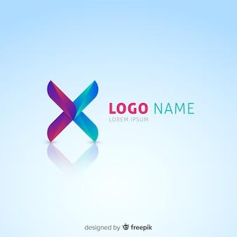 企業のグラデーション技術のロゴのテンプレート