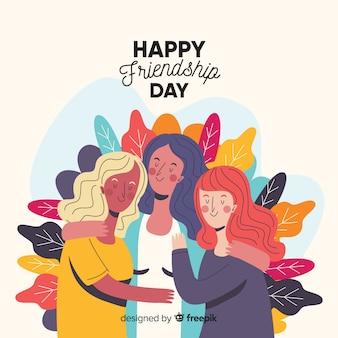 手描きの幸せな友情日