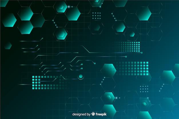 三次元グラデーション回路基板の背景