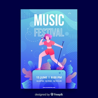 手描き音楽祭のポスター