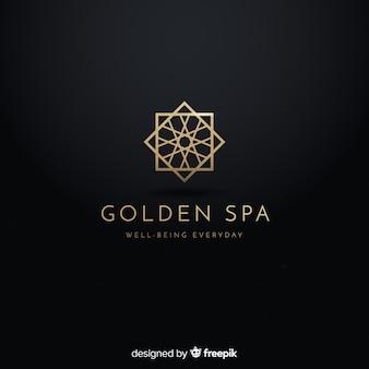 Золотой элегантный логотип плоский стиль