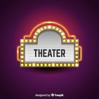 劇場のサインの背景