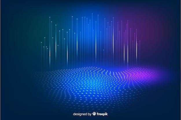 技術的な落下粒子の暗い背景