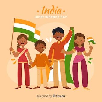 День независимости индии рисованной людей