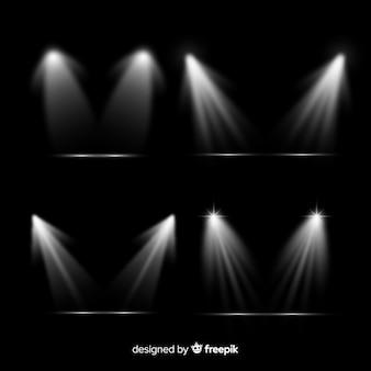 現実的な光のバーストのコレクション